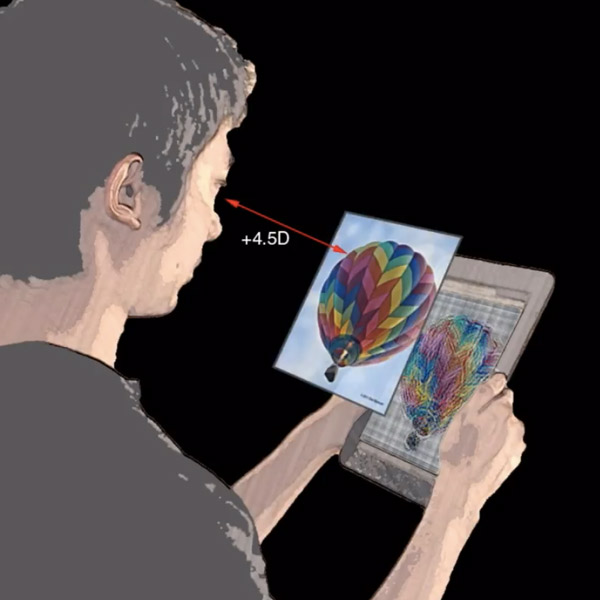 зрение,оптика,алгоритм, Дисплей, корректирующий зрение