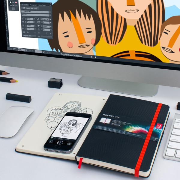 Moleskine, Adobe, Moleskine выпустила блокнот с мобильным приложением